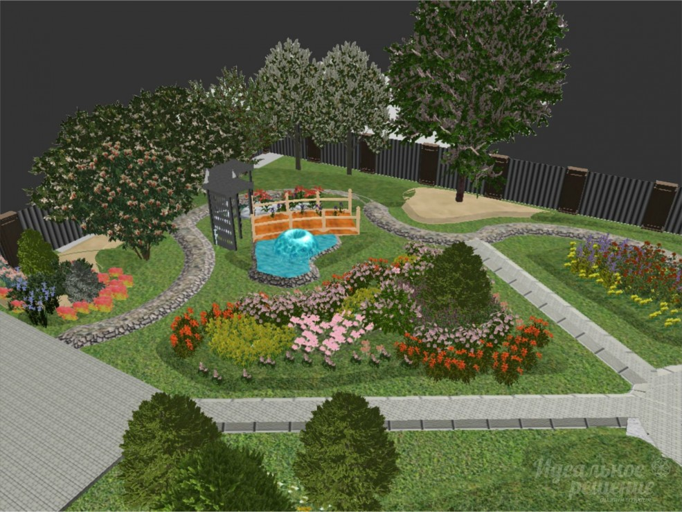 Ландшафтный дизайн дачного участка фото своими руками 7 соток 62